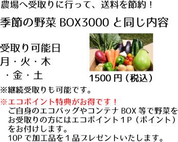 野菜BOX受取りの説明